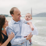 Husband and wife with their baby daughter. San Francisco Family photography.