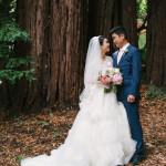 bride and groom at Valley Presbyterian Church