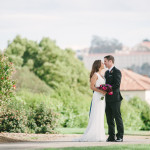 Bride and groom portrait at San Francisco Presidio Golf Club