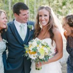 Bride and groom with their Moms
